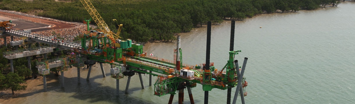 LNG product loading jetty – Darwin, Australia