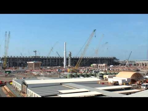 Ichthys LNG Project onshore timelapse June 2015
