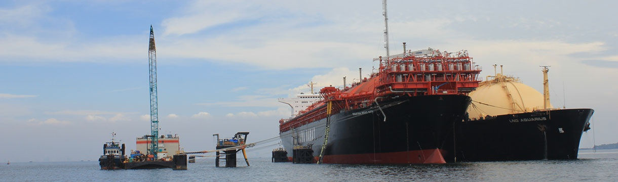 LNG offshore mooring structure, Tanjung Priok, Jakarta, Indonesia