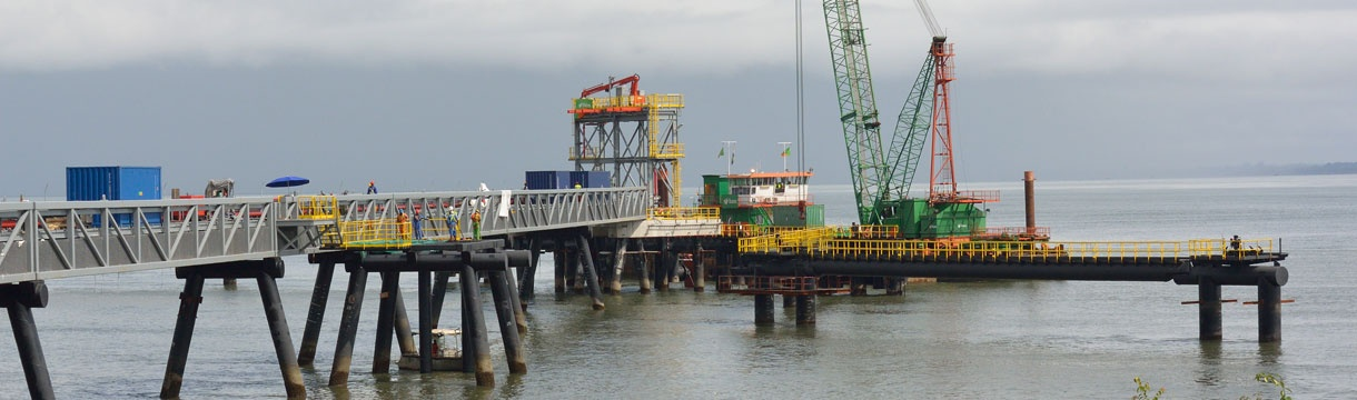 Oryx petroleum jetty, Freetown -  Sierra Leone