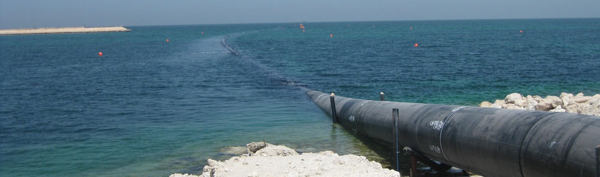 Outfall pipelines for Lusail City - Doha, Qatar