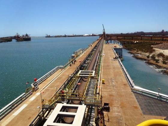 Iron ore loading berth and wharf extension AP5, Port Hedland – Australia