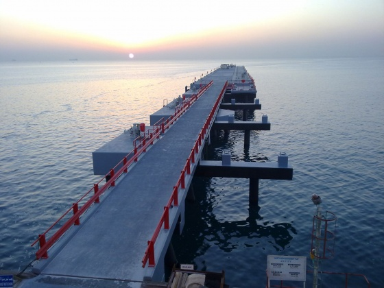 Jetty extension, Qatar Fertilizer Company (Qafco) V – Mesaieed, Qatar
