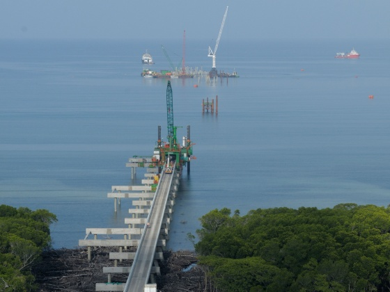 LNG jetty, Port Moresby - Papua New Guinea