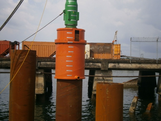Quay wall for a container terminal in Monrovia, Liberia